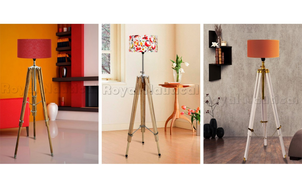 Create a modern ambience with tripod lamps