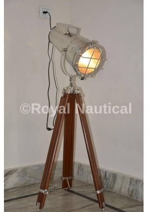 Hollywood Designer Chrome Home Decor Floor Electric Lamp Spot Light