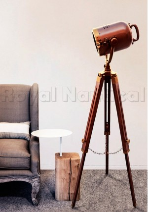 Antique Brown Finish Spotlight Floor Lamp