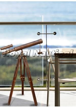 Antique Double Barrel Telescope