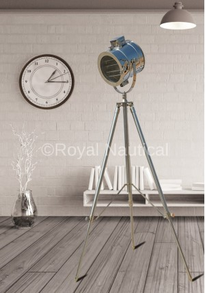 Authentic Design Chrome Floor Spotlight