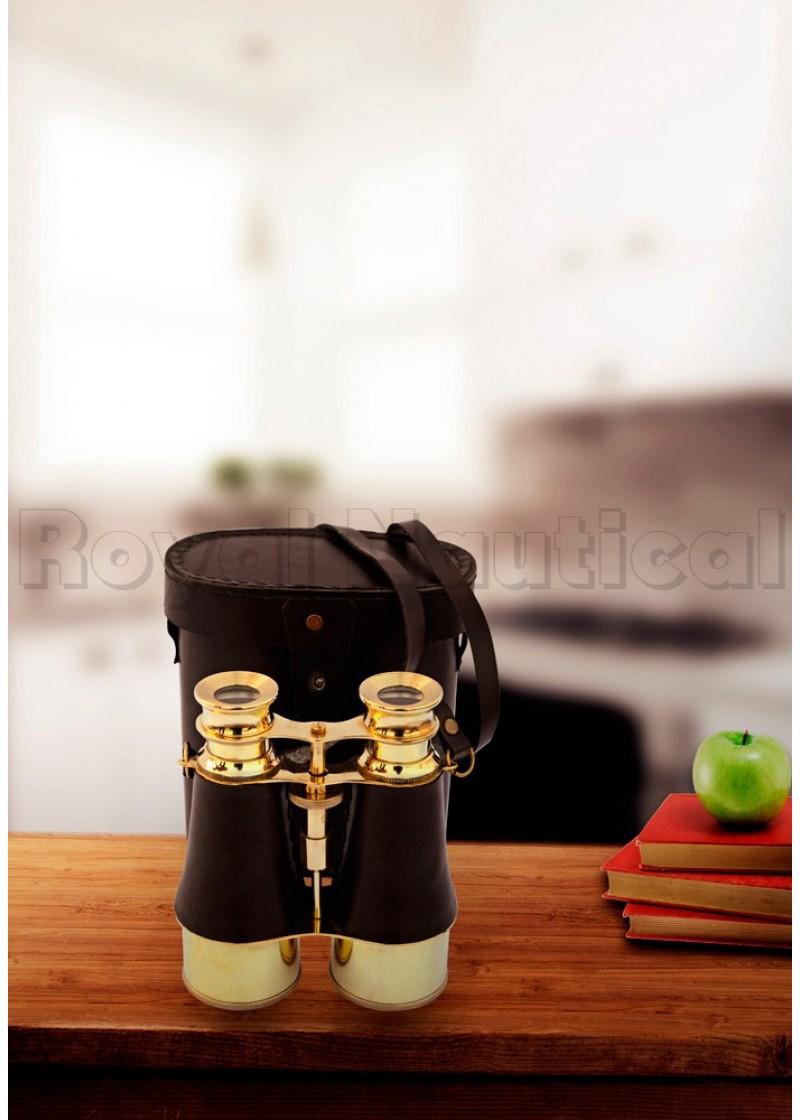 Binocular with black leather