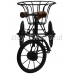 Black Metal Rickshaw