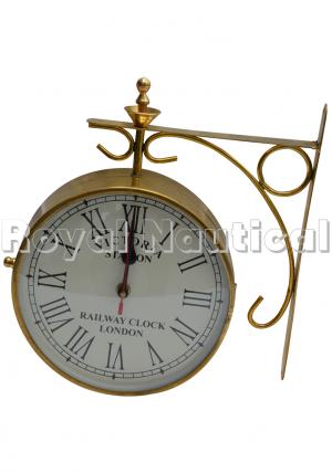 Brass Station Wall Clock