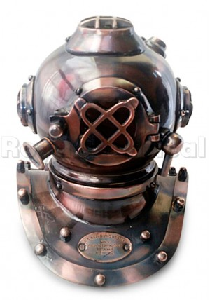Copper Antique Nautical Divers Helmet