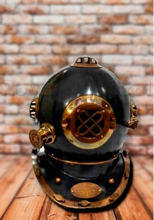 Antique Black Helmet Decorative