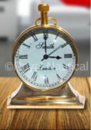 Designer Brass Desk Clock