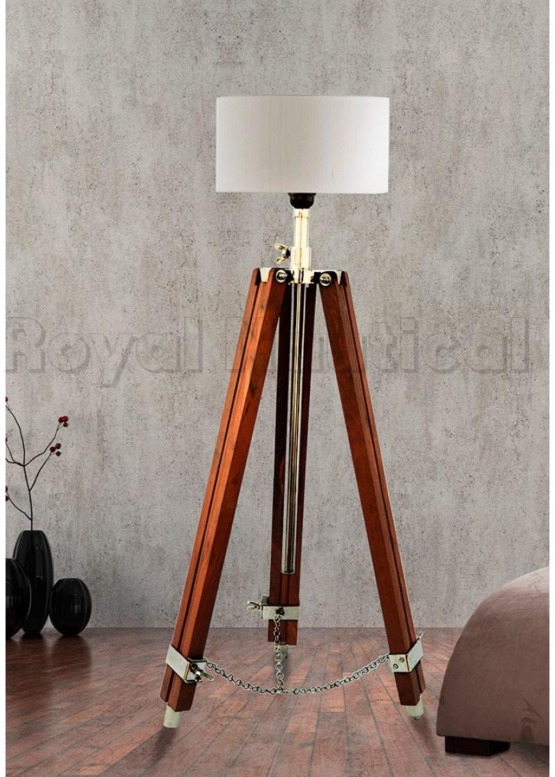 Designer Brown Tripod Lamp