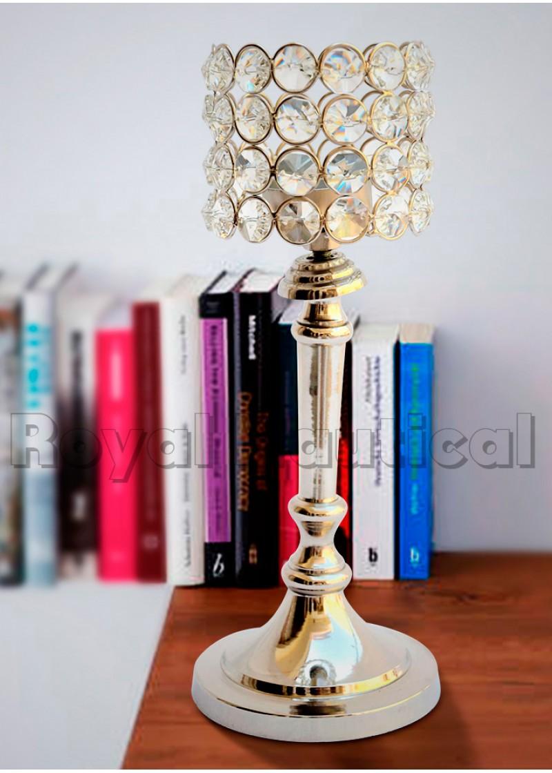 Designer Crystal Candle Holder (Set of 2 )