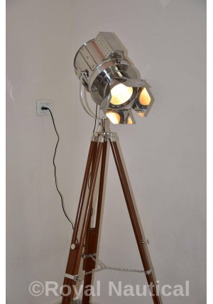 Designer Hollywood Photographer Chrome Finish Spot Light Home Decor Electric Floor Lamp