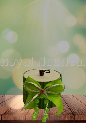 Green Wood & Jute Gift Box