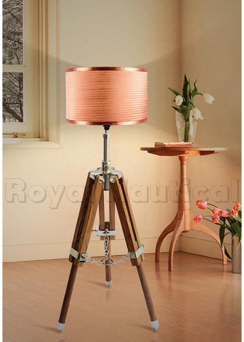 new product 29dff 5baab Mini Teak Tripod Lamp