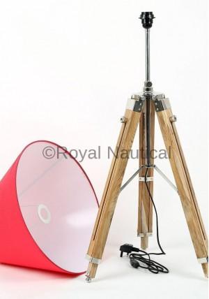 Modern Designer Wooden Tripod Floor Lamp