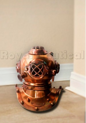 Nautical Brass Divers Helmet Cooper Finish