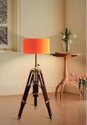 Nautical Antique Desk/Floor Lamp