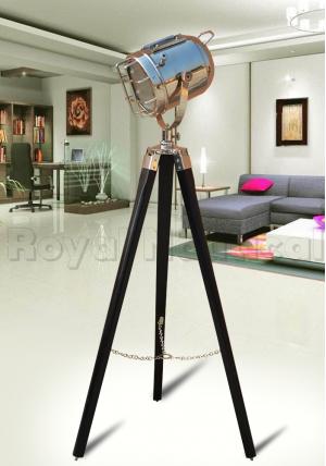 Nautical Black & Chrome Lamp