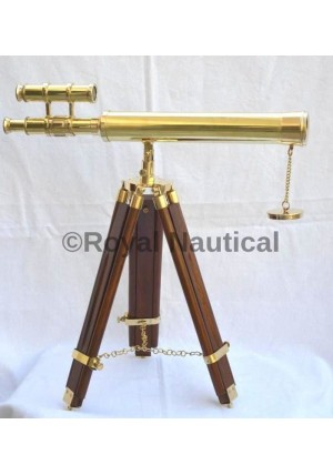 Nautical Brass Finish Telescope Double Barrel Gift & Home Decor