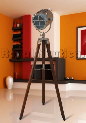 Nautical Brown & Chrome Lamp