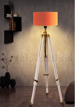 Royal White & Brass Finish Lamp