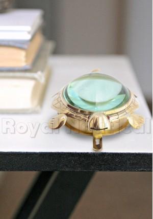 Tortoise Brass Clock