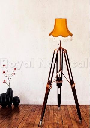Wood Tripod Floor Lamp