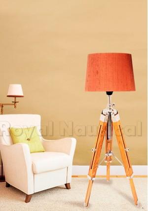 Wooden Vintage Desk/Floor Lamp