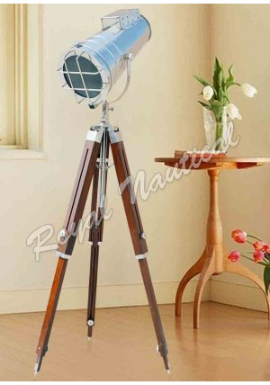 Chrome finish Hollywood Style Spot Search Light Floor Lamp