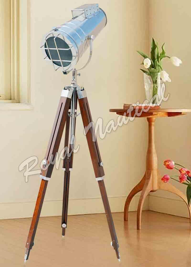 Chrome finish Hollywood Style Spot Search Light Floor Lamp