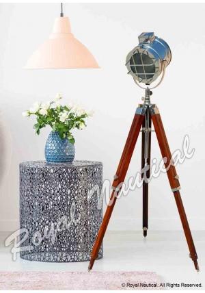 Hollywood Style Chrome Finish Floor Lamp