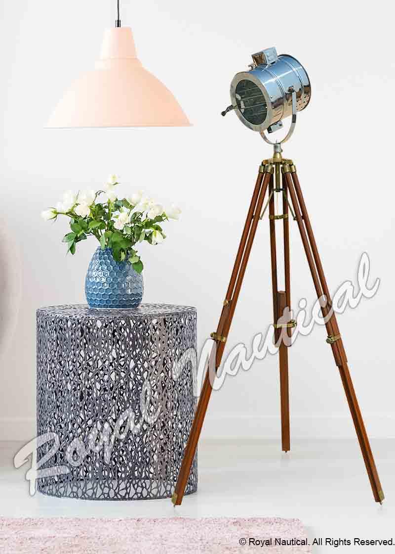 Antique and Chrome Mix Up Floor Lamp Spot Light