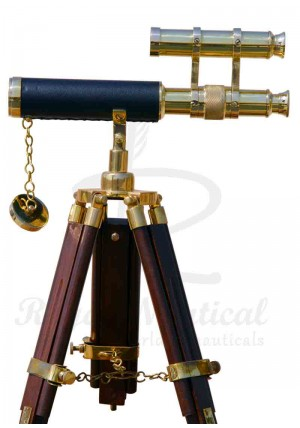 Nautical Vintage Brass Telescope Home Decor