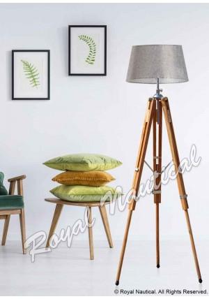 Premium Teak Wood Floor Lamp