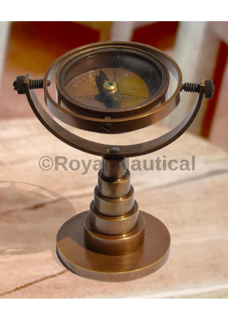 Antique Finish Nautical Vintage Table Compass Collectible Gift